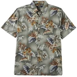 Boca Classics Mens Island Leaf Print Button Down Shirt
