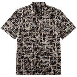 Boca Classics Mens Bamboo Print Button Down Shirt