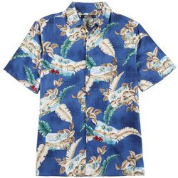 Boca Classics Mens Island Scene Button Up Shirt