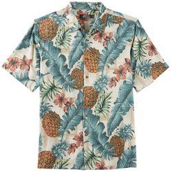 Boca Classics Mens Pineapple Palms Short Sleeve Shirt