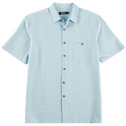 Boca Classics Mens Solid Short Sleeve Shirt