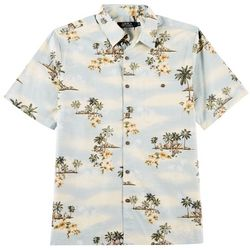 Boca Classics Mens Etched Scene Short Sleeve Shirt