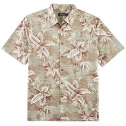 Boca Classics Mens Tropical Leaf Print Shirt