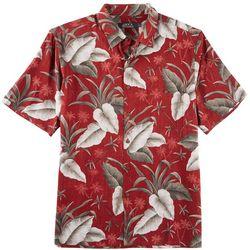 Boca Classics Mens Palm Leaf Short Sleeve Shirt