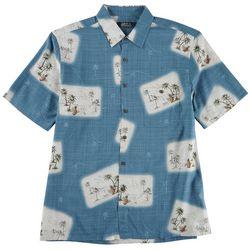 Boca Classics Mens Post Cards Short Sleeve Shirt