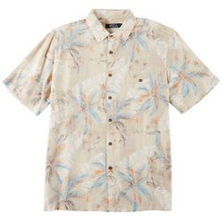 Boca Classics Mens Palm Frond Print Button Down Shirt