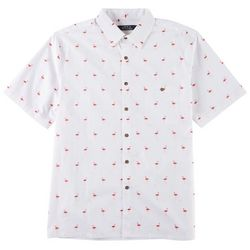 Boca Classics Mens Flamingo Print Simply Perfect Shirt