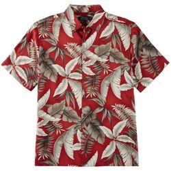 Boca Classics Mens Palm Leaves Print Simply Perfect Shirt