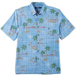 Boca Classics Mens Pay Palm Island Button Down Shirt