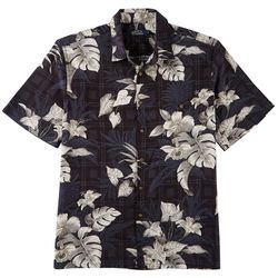 Boca Classics Mens Ray Leaf Print Button Down Shirt