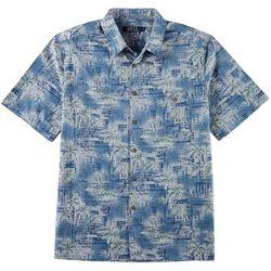 Boca Classics Mens Palm Batik Print Button Down Shirt