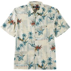 Boca Classics Mens Palm Tree Pineapple Print Shirt