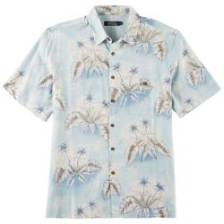 Boca Classics Mens Tropical Palm Tree Print Shirt