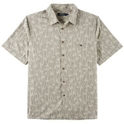 Boca Classics Mens Bamboo Stripe Print Button Down