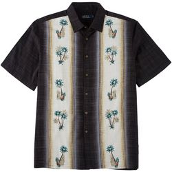 Boca Classics Mens Blue Beach Button Down Shirt