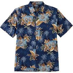 Boca Classics Mens Palm Leaf Print Button Down Shirt