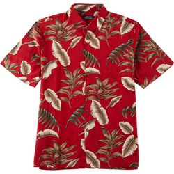Boca Classics Mens Palm Leaf Button Down Shirt