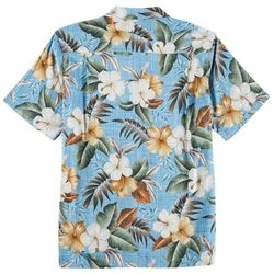 Boca Classics Mens Tropical Flower Print Button Down Shirt