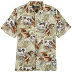 Boca Classics Mens Post Card Short Sleeve Shirt
