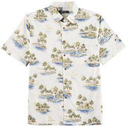 Boca Classics Mens Island Scene Print Shirt