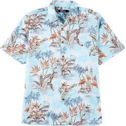 Boca Classics Mens Floral & Pineapple Button Down Shirt