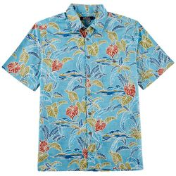 Boca Classics Mens Batik Leaf Print Simply Perfect Shirt