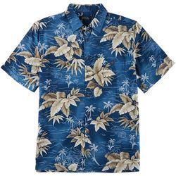 Boca Classics Mens Volcano Palm Print Simply Perfect Shirt