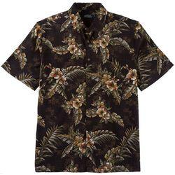 Boca Classics Mens Hibiscus Palm Print Simply Perfect Shirt