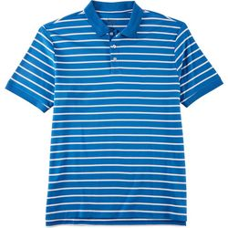 Boca Classics Mens Striped Short Sleeve Polo Shirt