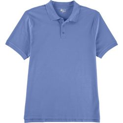 Boca Classics Mens Heathered Knit Polo Shirt