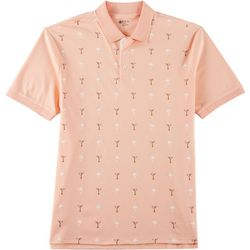 Boca Classics Mens Palm Tree & Martini Polo Shirt