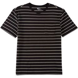 Boca Classics Mens Stripe Print Pocket Crew Neck T-Shirt