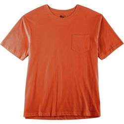 Boca Classics Mens Solid Performance Comfort Pocket T-Shirt
