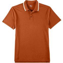 Boca Classics Mens Pima Cotton Striped Trim Polo Shirt