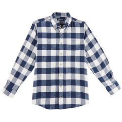 Boca Classics Mens Checkered Plaid Flannel Shirt