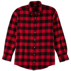 Boca Classics Mens Checkered Flannel Shirt