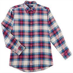 Boca Classics Mens Plaid Print Flannel Shirt