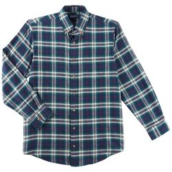 Boca Classics Mens Tartan Plaid Chest Pocket Flannel Shirt