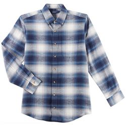Boca Classics Mens Plaid Flannel Long Sleeve Shirt