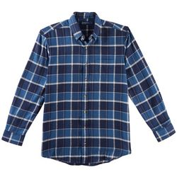 Boca Classics Mens Madras Plaid Pocket Flannel Shirt