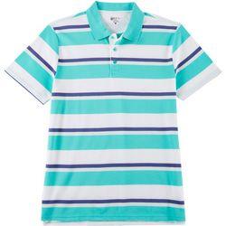 Boca Classics Mens Multi Stripe Print Polo Shirt