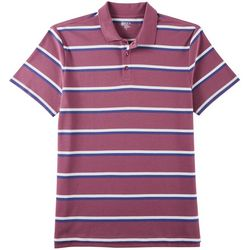Boca Classics Mens Striped Polo Shirt
