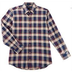 Boca Classics Mens Plaid Print Flannel Long Sleeve Shirt