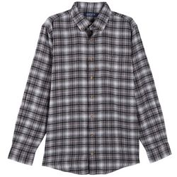 Boca Classics Mens Plaid Chest Pocket Flannel Shirt