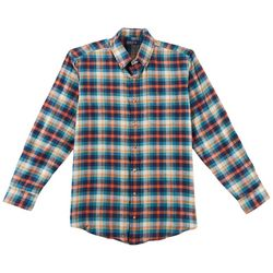 Boca Classics Mens Madras Pocket Button Down Flannel Shirt