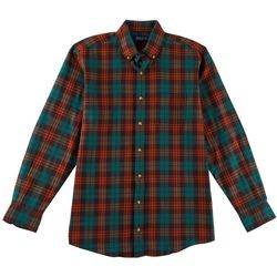 Boca Classics Mens Tartan Plaid Buton Down Flannel Shirt