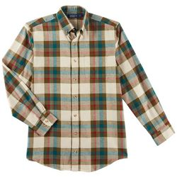 Boca Classics Mens Plaid Pocket Flannel Shirt