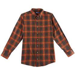 Boca Classics Mens Plaid Flannel Pocket Shirt