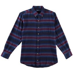 Boca Classics Mens Striped Flannel Shirt