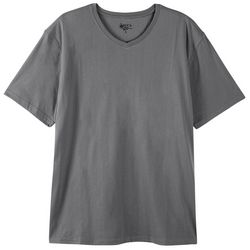 Boca Classics Mens Performance Heathered V-Neck T-Shirt
